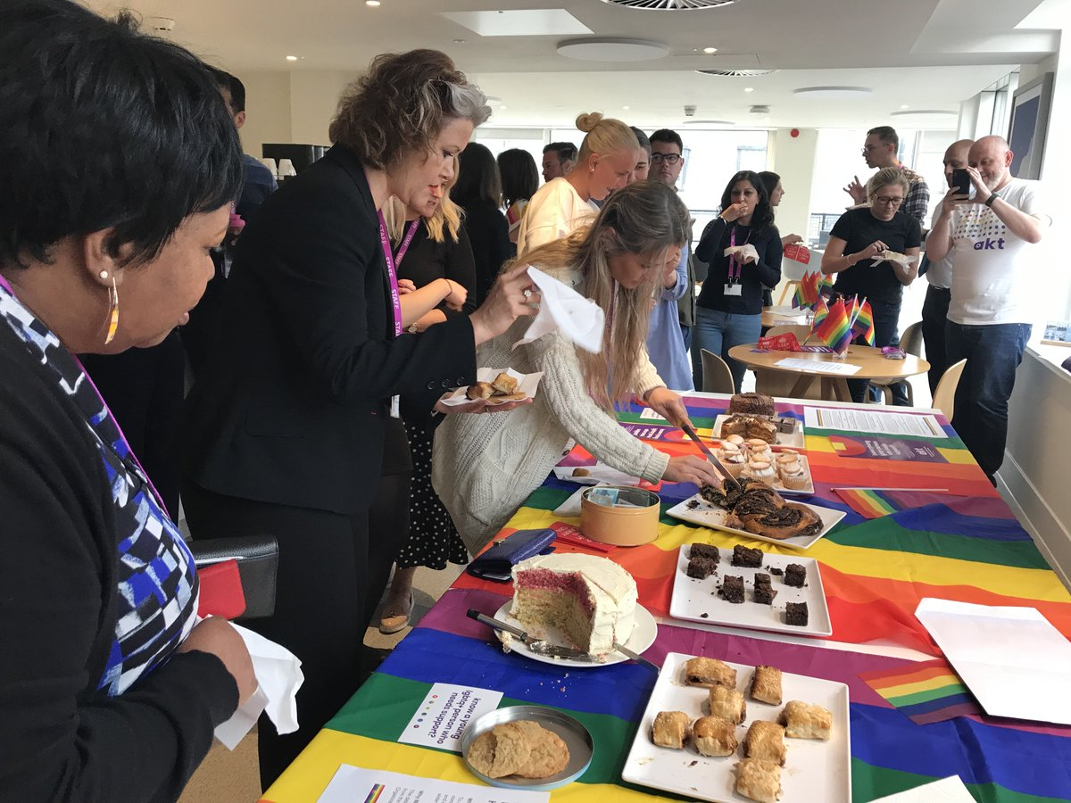 Fantastic bake sale, fantastic cause!  Thank you to @LGAcomms LGBT+ group for the lovely goodies, marking International Day against Homophobia, Transphobia and Biphobia, raising money for Albert Kennedy Trust ❤️🧡💛💚💙💜  #InternationalDayAgainstHomophobia #LGBTQ #LetThereBeCake
