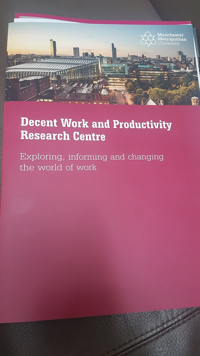 Very pleased to be in Manchester today at the launch of @mmu_decentwork.  Keen to explore learning for #goodworknotts
