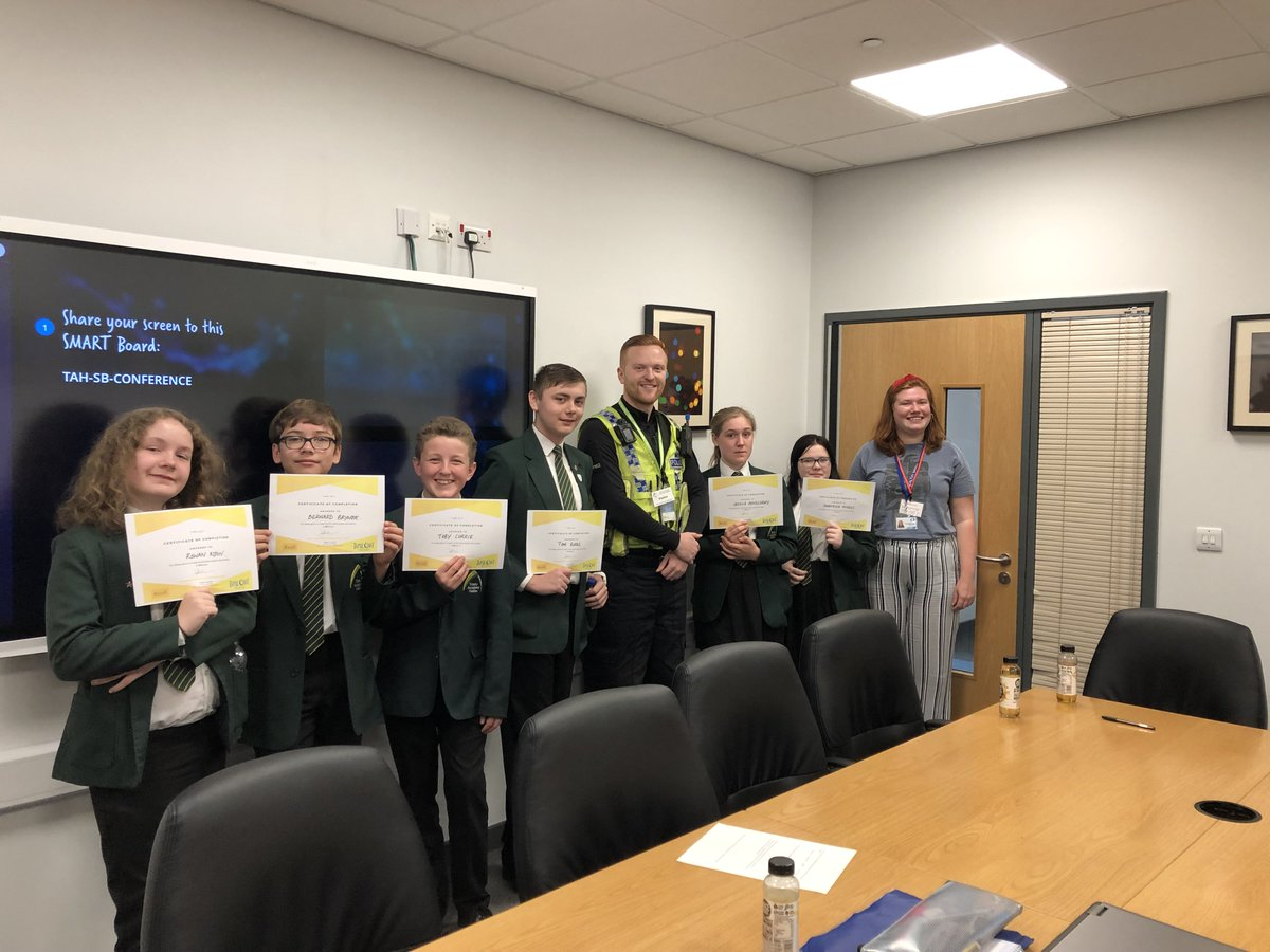 Members of our Student Leaders team recently planned and delivered workshops to Year 7 students on Knife Crime, Autism Awareness and LGBT issues.  Here they are receiving awards Annie Wade Smith from Healthy Minds, Calderdale and PC Fletcher.