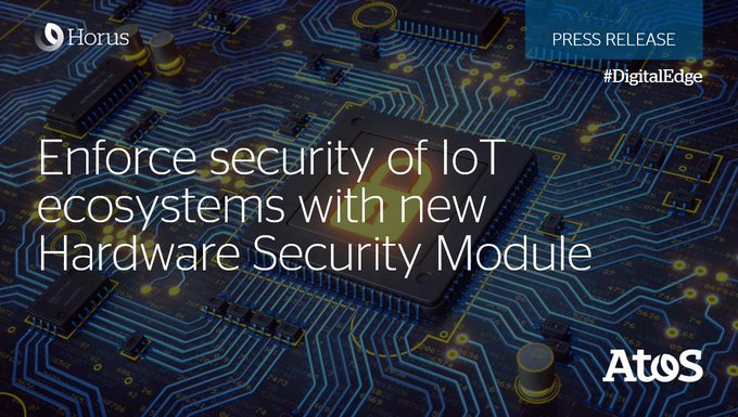 At the Atos Technology Days, Atos announced the security enforcement of #IoT ecosystems with...
