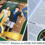 Image for the Tweet beginning: Guid Nychburris programme design &