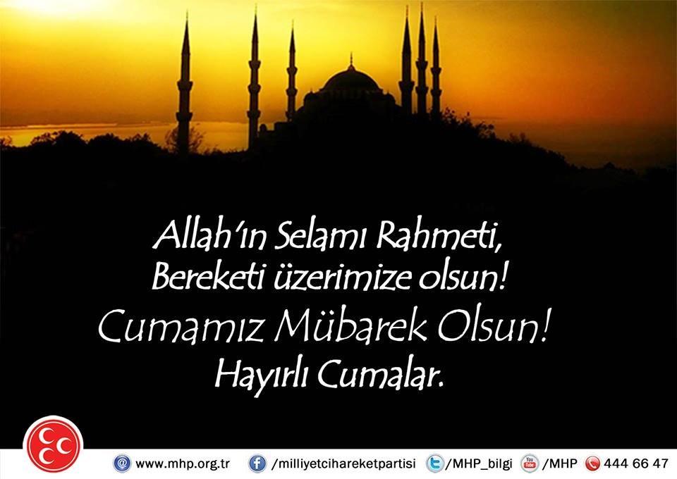 Allah'ın Selamı Rahmeti, Bereketi üzerimize olsun! Cumamız Mübarek Olsun! Hayırlı Cumalar. https://t.co/q7s583jia9
