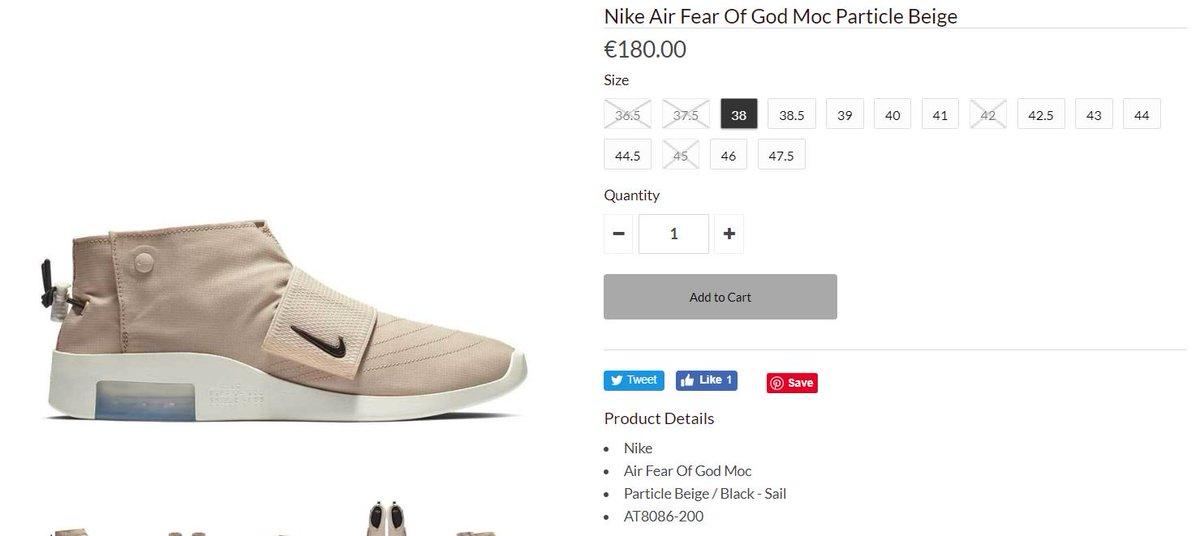 9d3ea8980c3058 Ad  LIVE via Noirfonce Fear of God x Nike Air Moc  Beige http   tinyurl.com y3j89vs7 Moc Black http   tinyurl.com yyb6ttvu pic. twitter.com cL5S6sYyQj