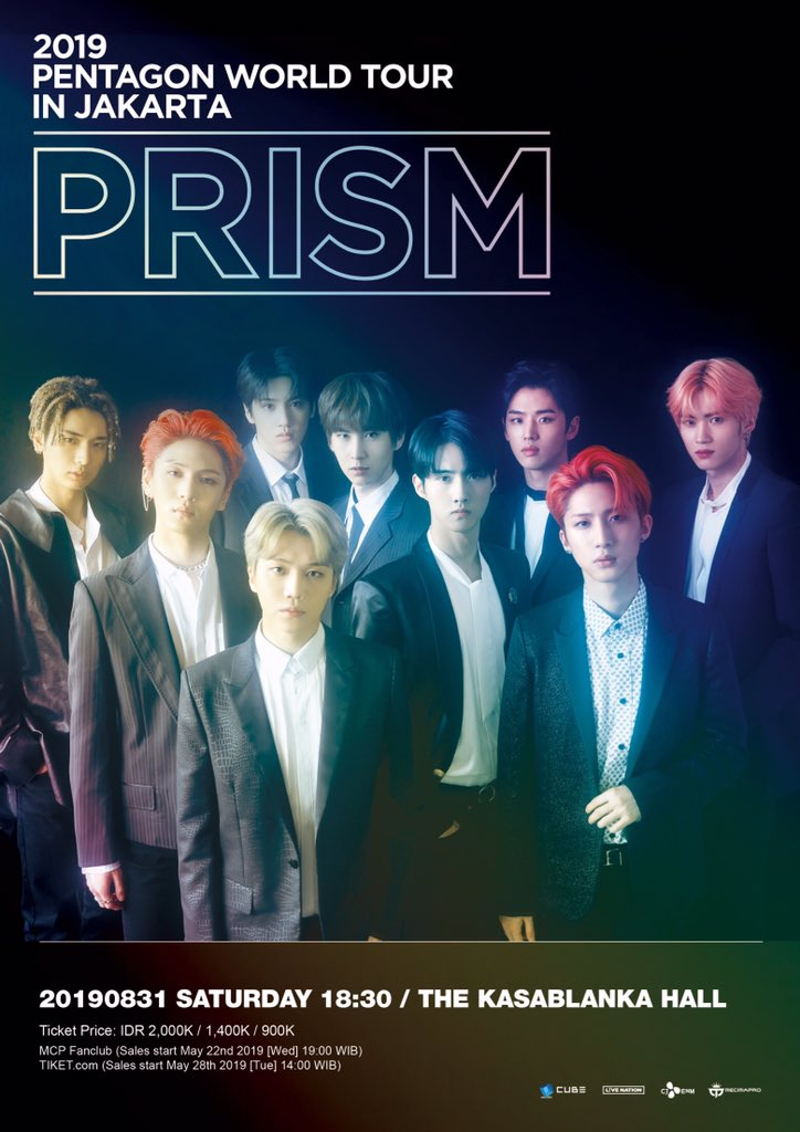 [ANNOUNCEMENT] 2019 PENTAGON WORLD TOUR <PRISM> in JAKARTA - Official Seat Plan #PENTAGONPrismInJKT. MCP Fanclub sales start from May 22nd (19:00 WIB). General Sales will open on May 28th (14:00 WIB).