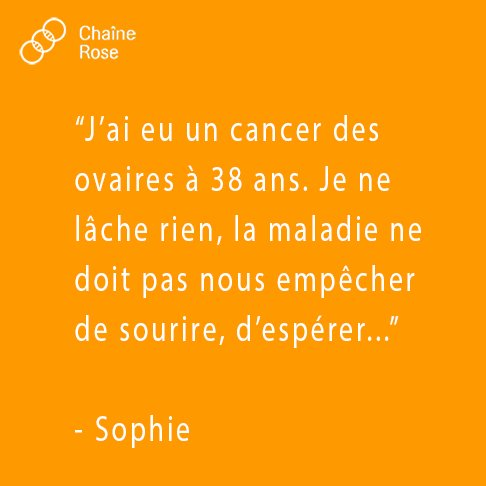 Chaîne Rose On Twitter J Ai Eu Cancer Des Ovaires à 38