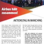 Image for the Tweet beginning: #Airbus hält zusammen! #Aktionstag bei