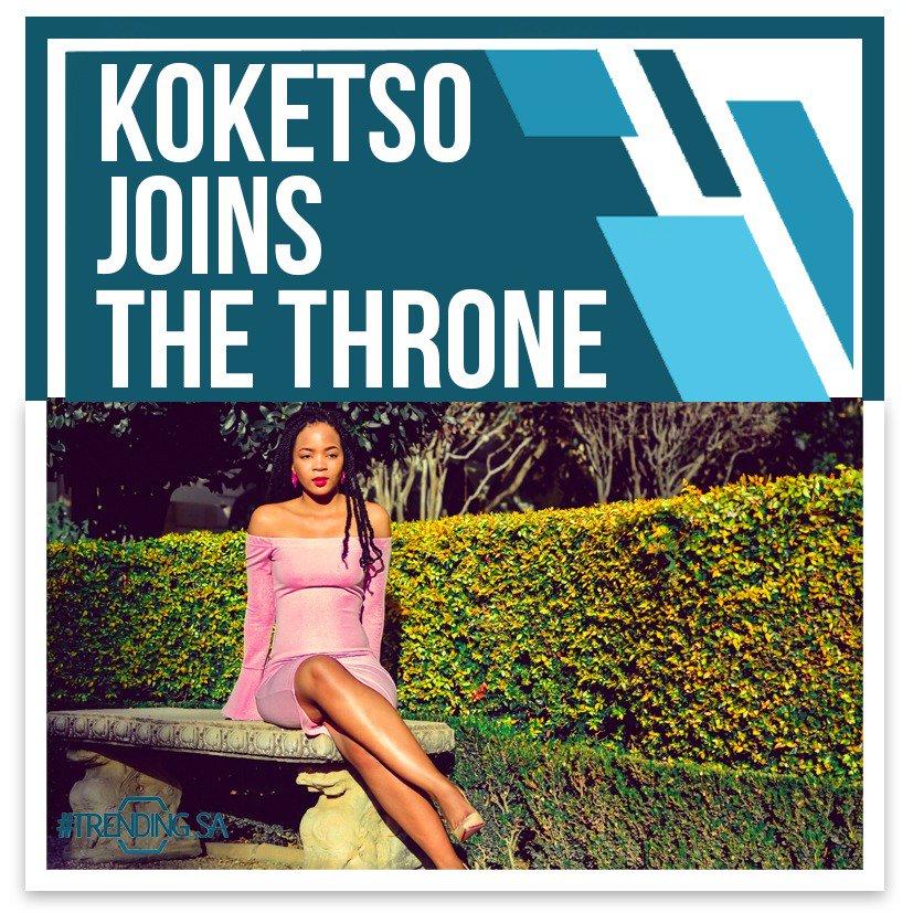 Koketso joins The Throne Cc @koketsomophutin Full story here👉trendingsa.tv/2019/05/17/kok… #TSAon3 #TSAonline