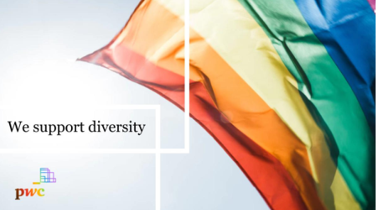 At PwC we are proud to work together in an inclusive workplace which embraces the diversity of our people. #LGBT #AllforOne #pwcbelgium