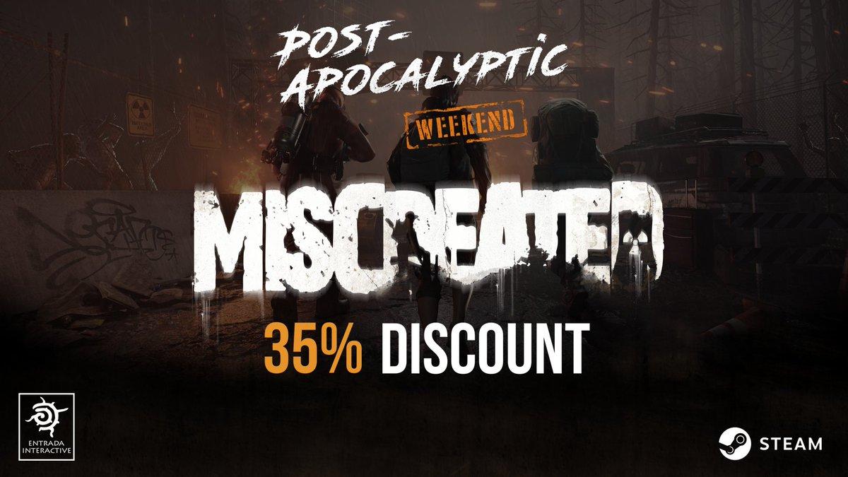 Miscreated est actuellement à -35% dans le cadre du weekend Steam dédié au Post Apo ! Prévenez vos amis, ennemis, familles, voisins, facteurs, boulangers ..... c'est le moment de nous rejoindre ! HYPERS  https://store.steampowered.com/app/299740
