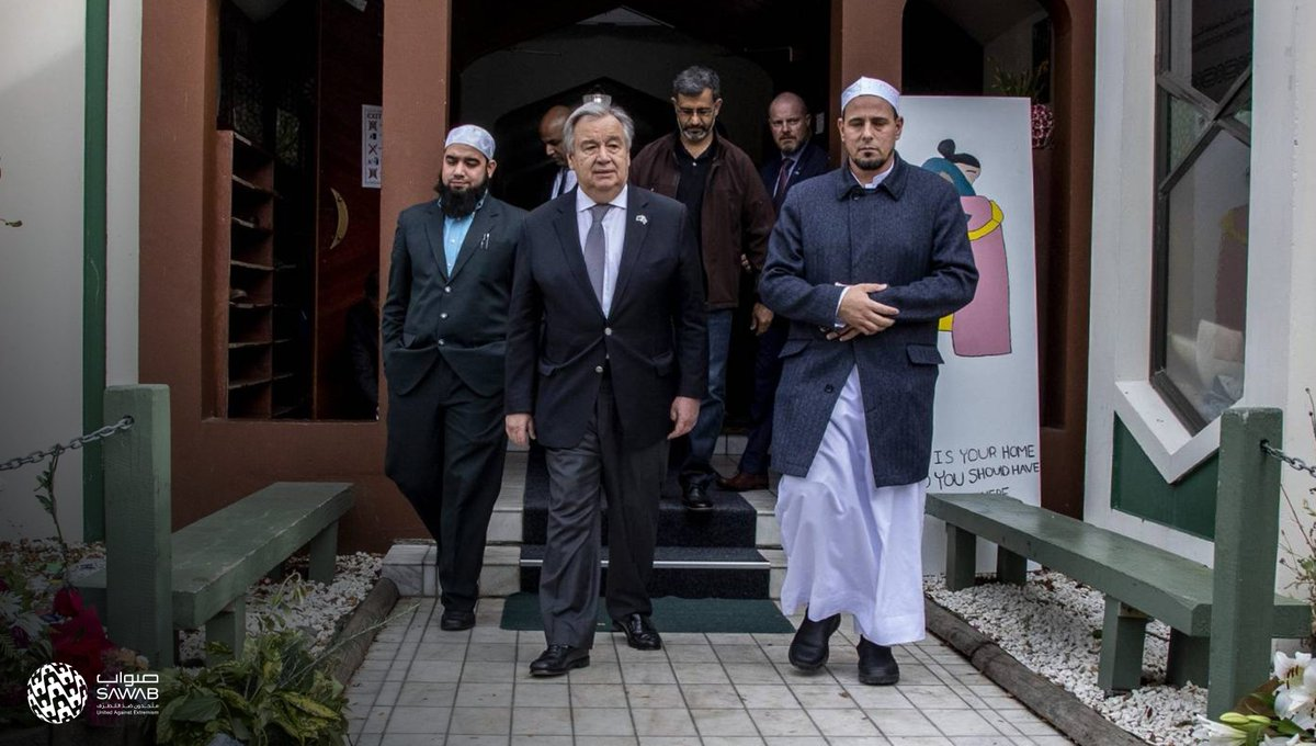&quot;Hate speech is spreading like wildfire on social media. We must extinguish it.&quot;   In #Christchurch for this year's Ramadan solidarity visit, UN Secretary General @antonioguterres expressed his support for the Muslim community  #WorldOfTolerance<br>http://pic.twitter.com/VqtepMbpEK