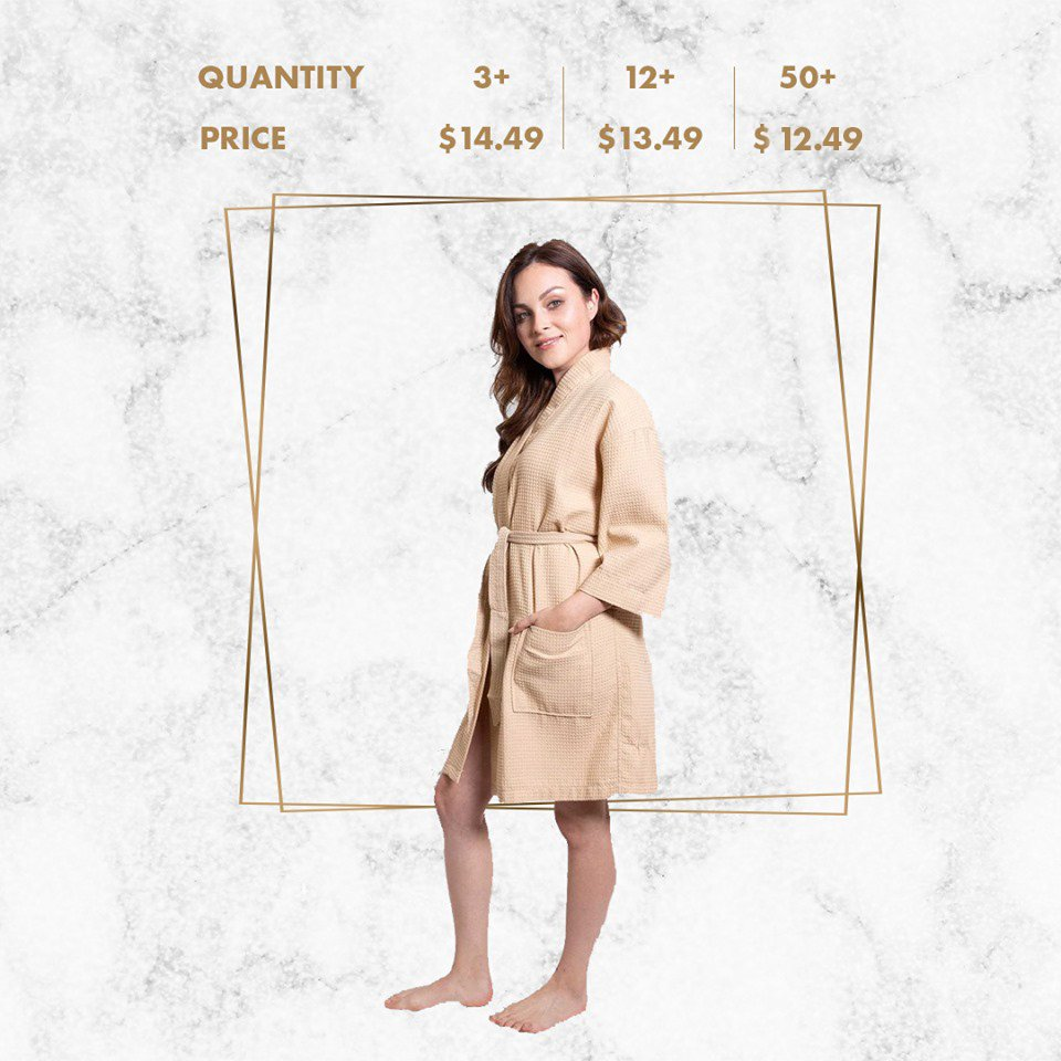 6329d0ef1f4 ... Taupe Bathrobe is available with special discount now on  http   robesNmore.com ! Visit our website to see new arrivals and more  products with discounts!