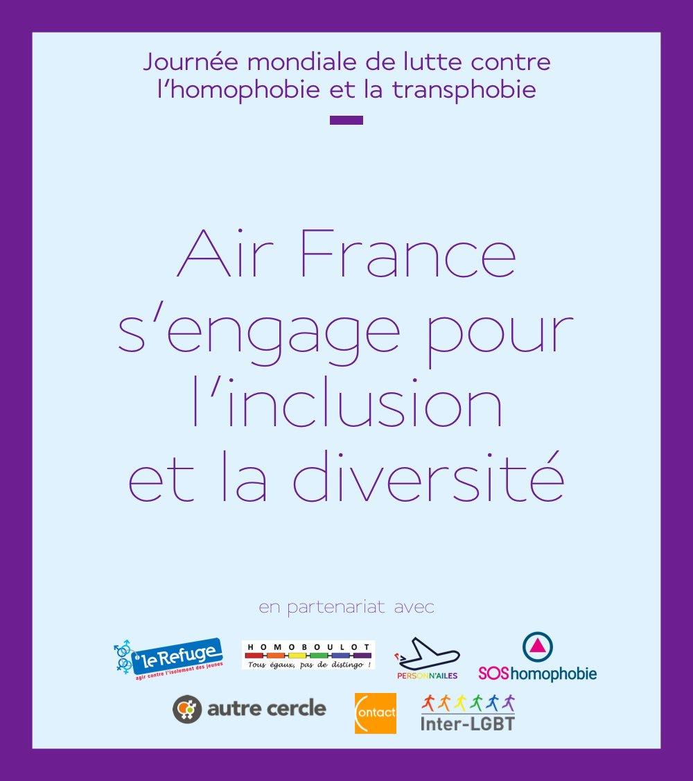 [#17Mai] Nous sommes fiers de nous engager en faveur de l'inclusion et de la #diversité 🌈✈️  Au programme : #RainbowMorning avec des tables rondes avec @PersonnAilesAF et les associations LGBT dont @lerefuge avec sa marraine @MurielRobinCOM   👉 http://bit.ly/30nxRaJ #IDAHOT