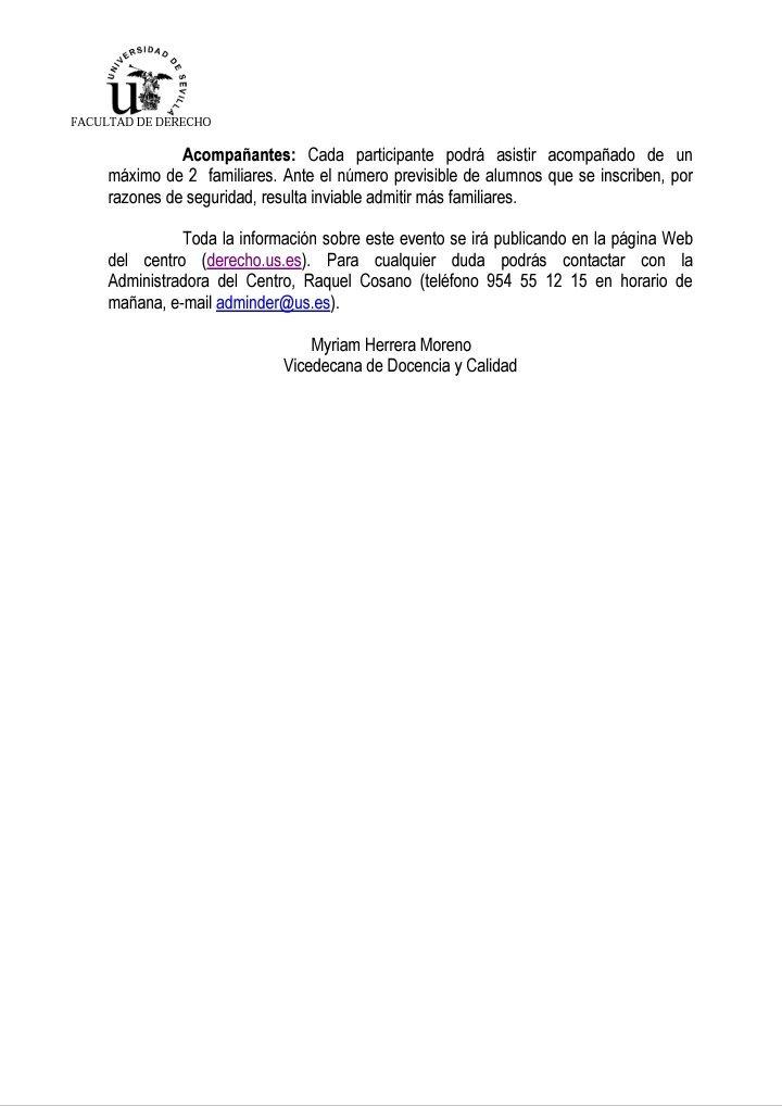 Calendario Examenes Derecho Us.Delegacion De Alumnos De Derecho Us Alumdereus Twitter