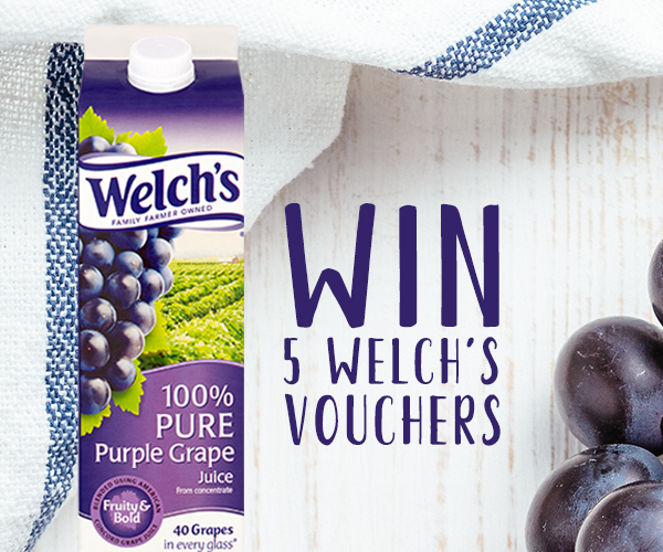 Follow, Retweet &amp; Reply for the chance to Win 5 Welch's 100% Pure Grape Juice Vouchers!  Enjoy a glass of Welch's with family and friends...perfect at breakfast, lunch or dinner! When do you like it best? Ends 9am 29/05, UK Entrants, T&amp;Cs Apply #FreebieFriday <br>http://pic.twitter.com/j6YXTFapr7