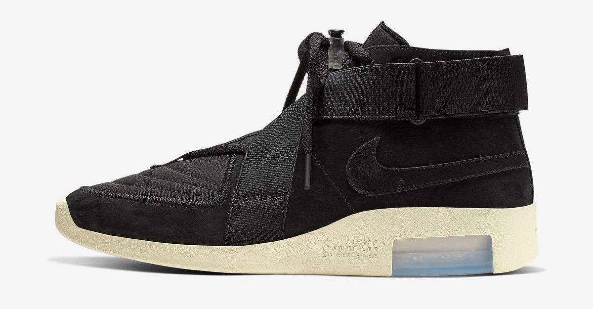new arrival 34e76 d8684 the nike air fear of god raid drops in black today amp here s every single