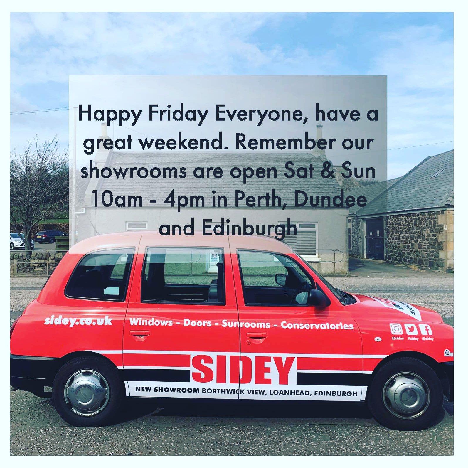 Happy Friday ???????? #sidey #sideyshowrooms #fridayfeeling #sideywindows #sideydoors #sideytaxi ???? https://t.co/bVIG5Xke21