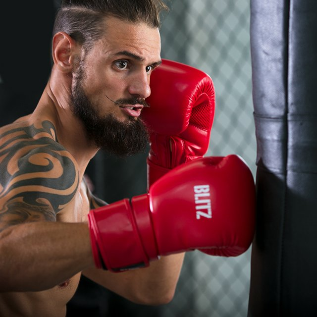 Blitz Muay Thai Boxing Gloves Red Sparring