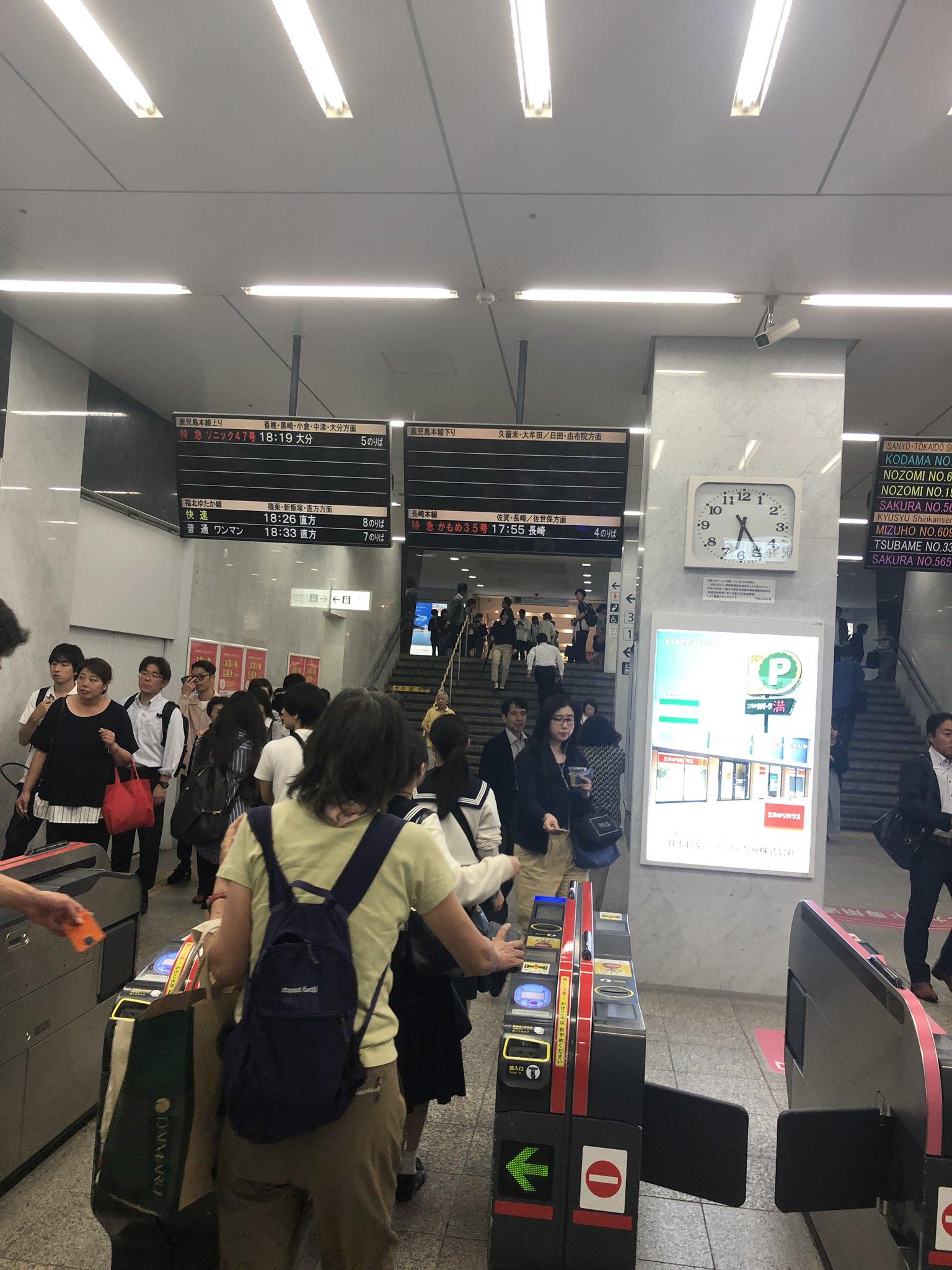 画像,17時55分竹下駅で人身事故家の目の前ということもあってすごく身近だからすごく怖いし悲しい事故だ、、、、 https://t.co/oQ2R0CgOzK…