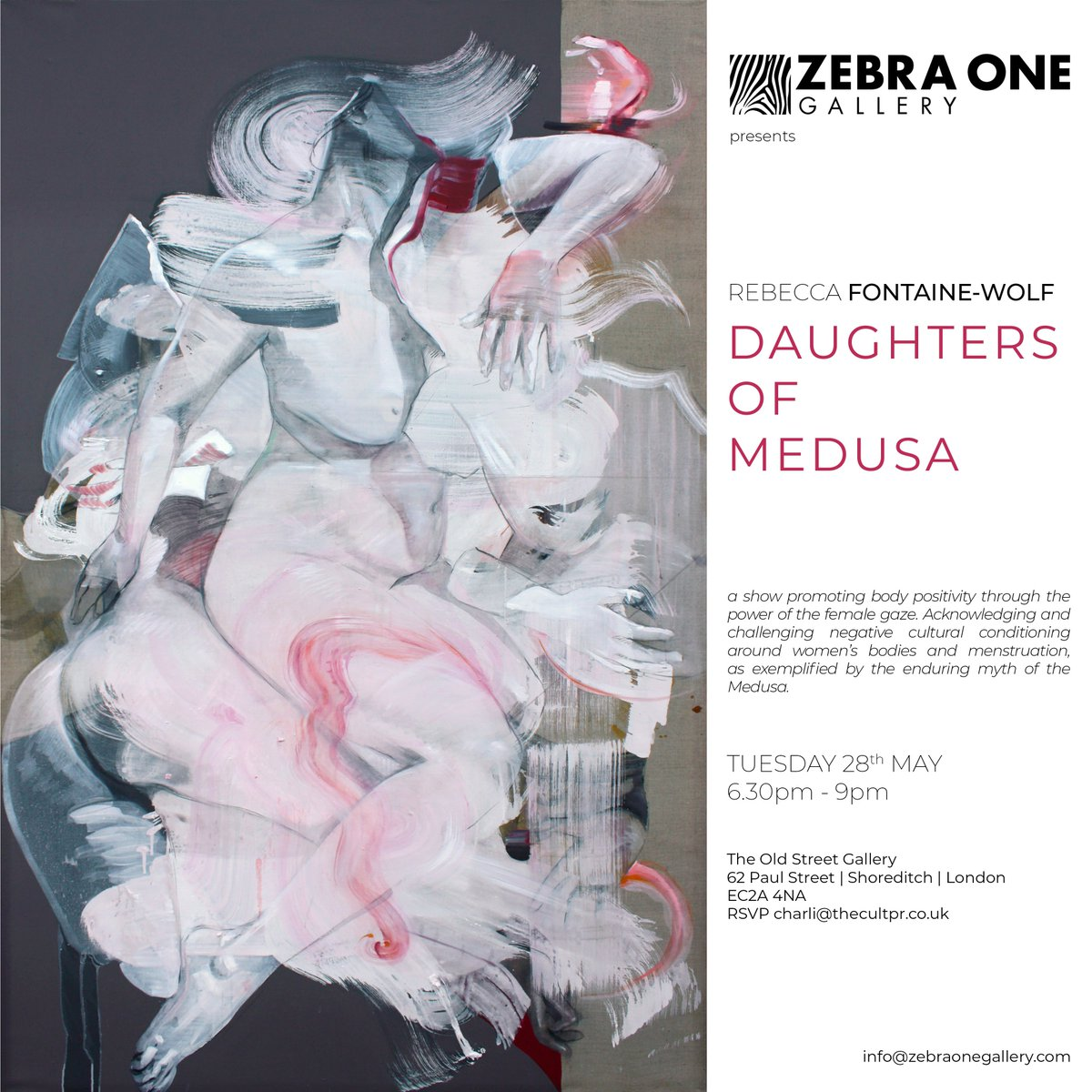 Daughters of Medusa | solo show | Zebra One Gallery | 28th May 2019 - mailchi.mp/35e4125fc97a/d…