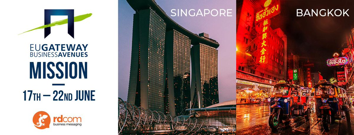 There's only one month until we touch down in #Singapore for the start of our @EU_Gateway Business Avenues mission in #Singapore and #Thailand - look out for more info coming soon! ;) #eu #mobilemessaging #mobilemarketing https://t.co/CPhDEXqRnz