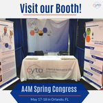 It's finally here! Come visit our booth at the #A4M Spring Congress! We're excited for the opportunity to meet with & educate HCPs on the medical potential of #cannabidiol (#CBD) & other #phytocannabinoids & their benefits. #SpringCongress19 #CBDHealth #CBDBenefits #CYTOlife