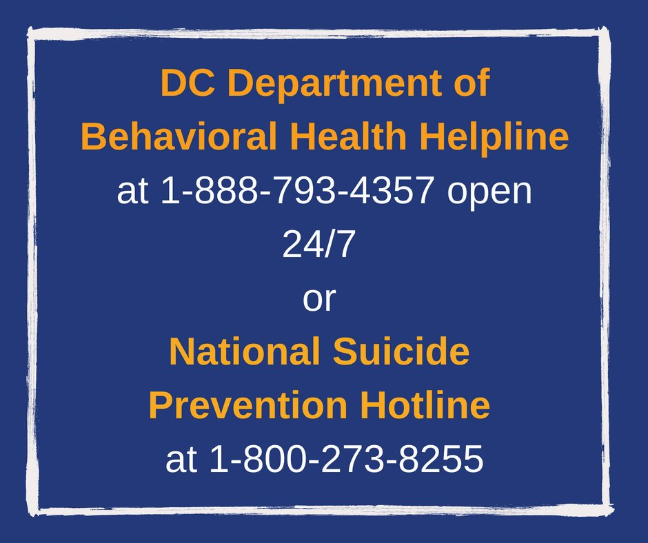 Today's #NPW2019 theme is: Preventing Suicide. The causes of suicide are complex & determined by factors like mental illness, substance abuse, painful losses, exposure to violence & social isolation. If you or a friend needs support coping with those issues, reach out for help!
