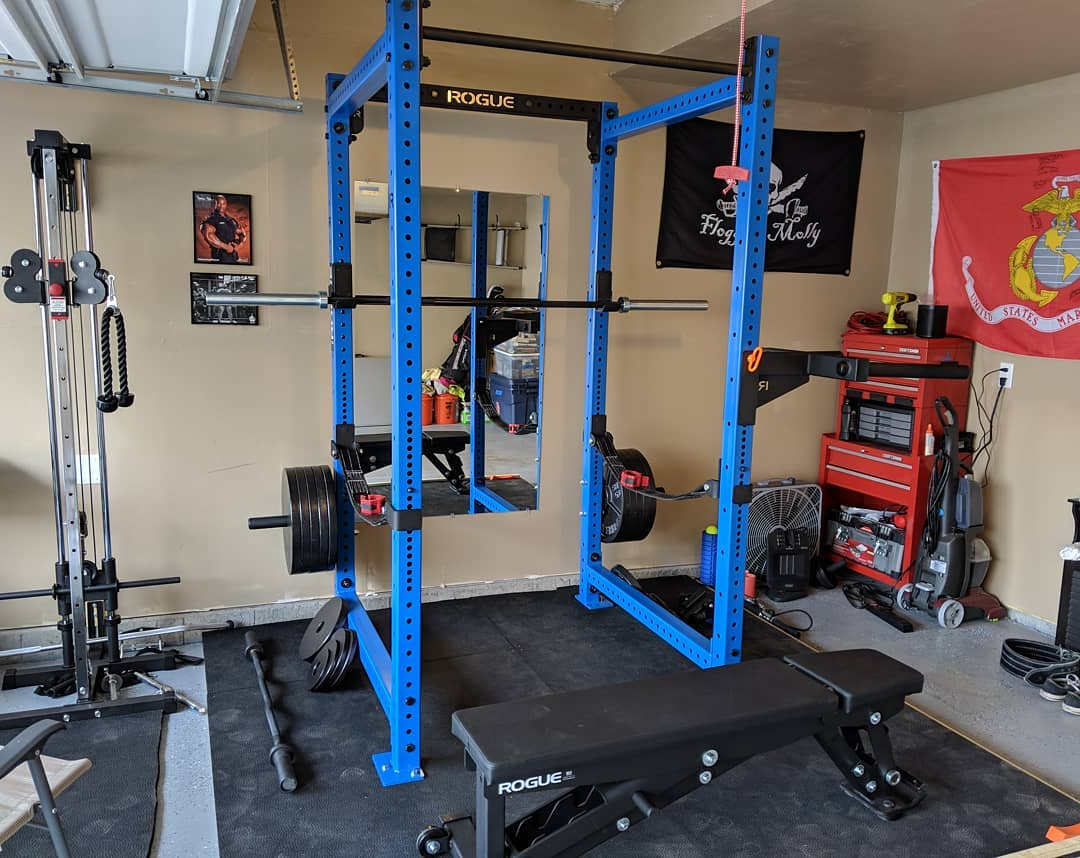 Rogue fitness garage gym courtesy of james longstrom facebook