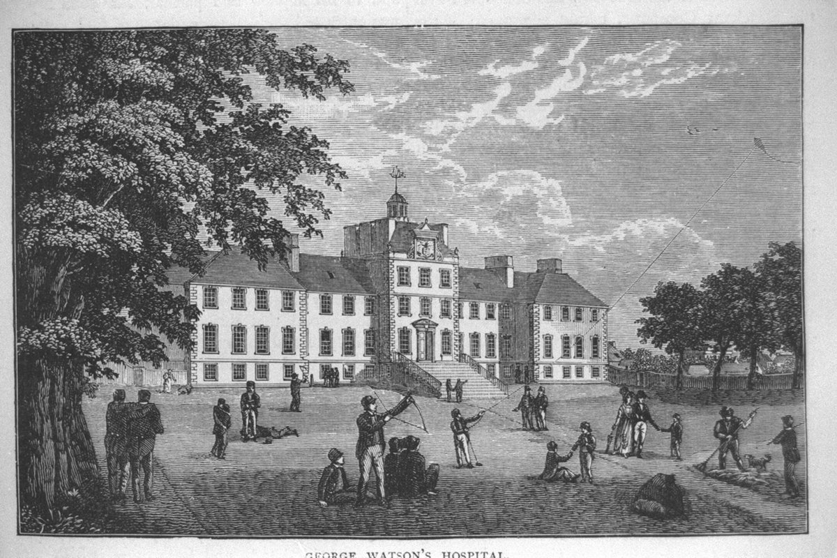 #OnThisDay in 1741 a charitable school was established in Edinburgh using money bequeathed by accountant George Watson. On its opening day George Watsons Hospital was attended by 11 pupils, boys aged between 9 and 10. (© Edinburgh City Libraries. Licensor @Scranlife)