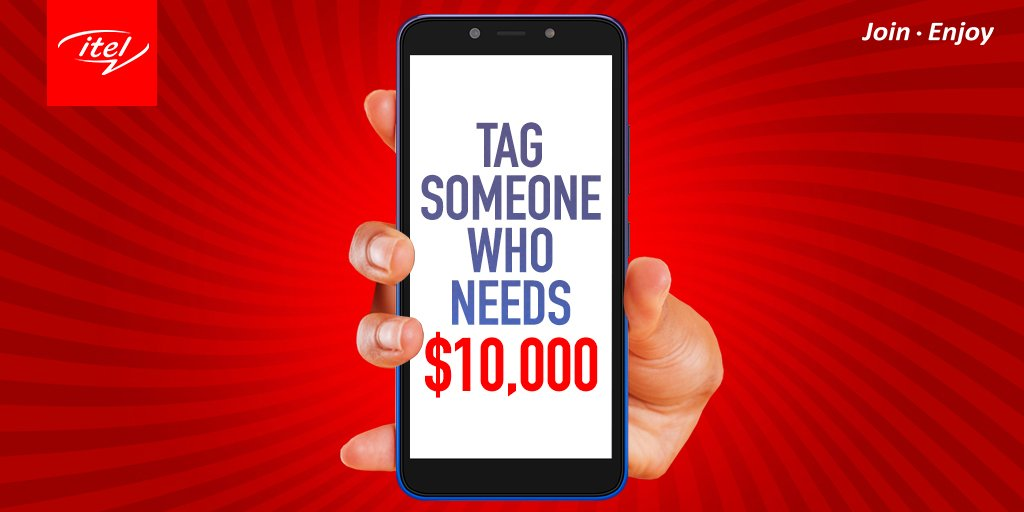 Yay! It&#39;s TGIF and it&#39;s time for fun. So, tag someone who needs $10,000 dollars. Who knows? They just might get it!   #27kNairaGet10kDollars #itelSeasonOfWinnings<br>http://pic.twitter.com/syVcdNMbIy