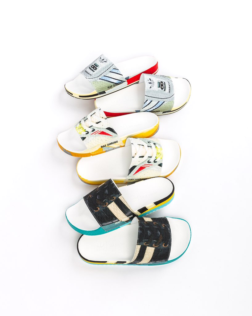 cheaper 37dad 3a34d Sneaker-inspired designs on these slides include the Micro Pacer ( 140),  Torsion ( 140) and the Samba ( 140). Available on http   PackerShoes.com and  ...