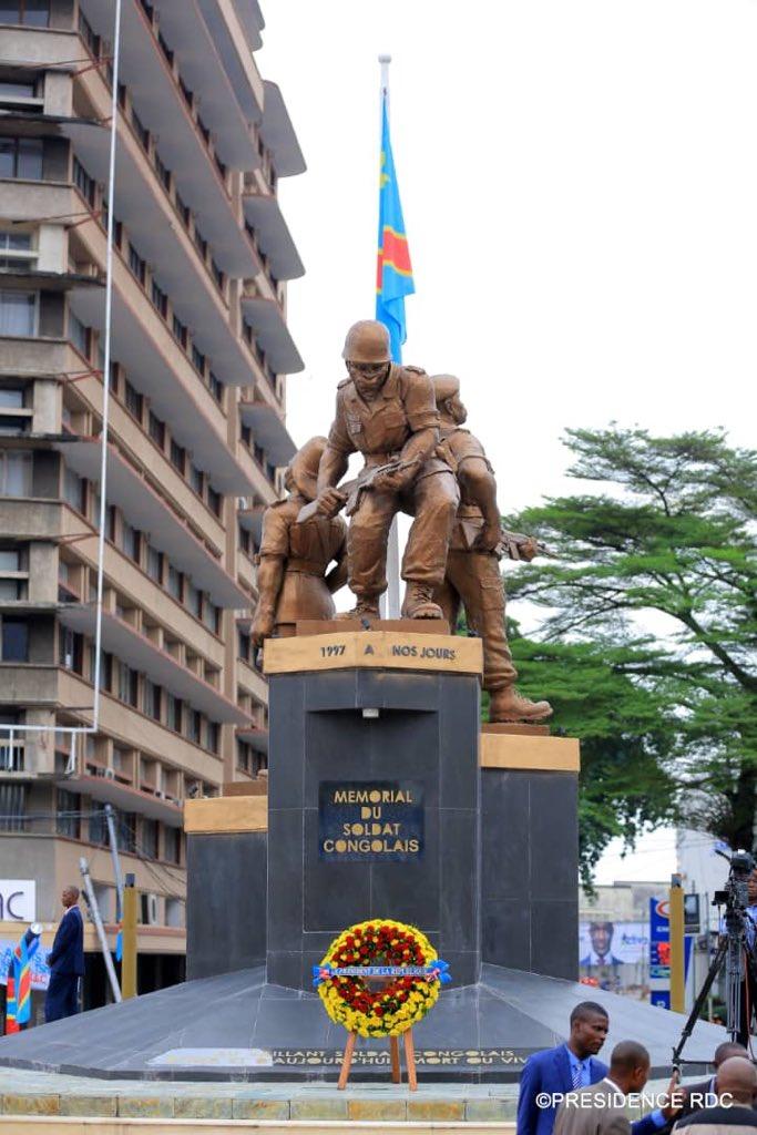 """Résultat de recherche d'images pour """"Le mémorial du soldat congolais à Gombe Kinshasa forescom"""""""
