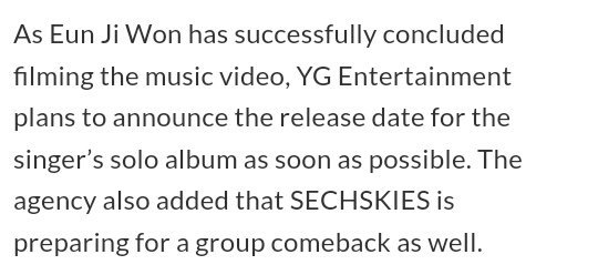 A double comeback indeed!!! EUN JIWON AND SECHSKIES OMG IM SO EXCITED!! I THINK MY WALLET IS READY!! OMG OMG #SECHSKIES #EUNJIWON