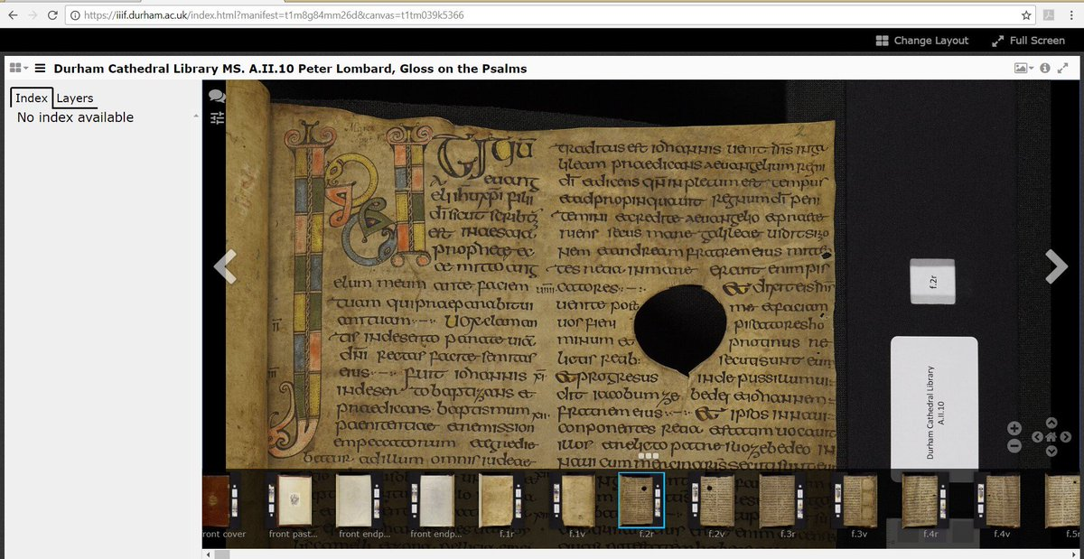 Have you discovered the Durham Priory Library website yet? Were working with @PalaceGreenLib to digitise the surviving books from our medieval monastic library: durhampriory.ac.uk Now searchable via @biblissima: iiif.biblissima.fr/collections/se… #IIIF #medievaltwitter #ExploreMW