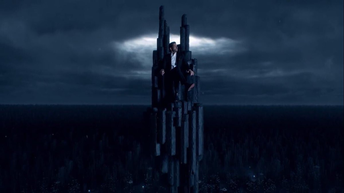 Now we've seen him on his throne it makes sense in a sad kind of way that his home on earth is at the top of a tall building surrounded by windows and views across the city, and why he spends so much time alone on his balcony looking out. It's what he's used to 😢 #RenewLucifer