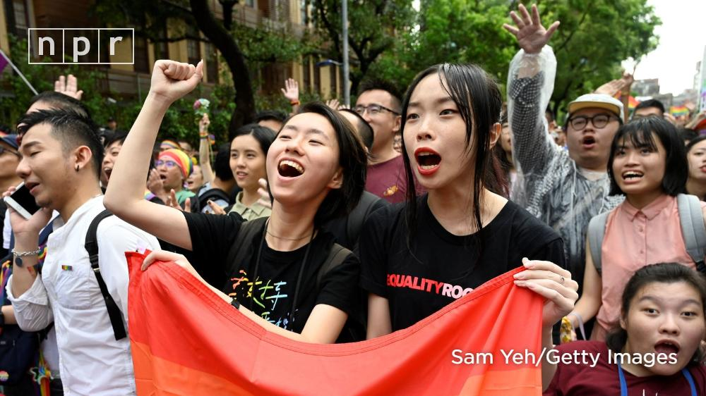 Taiwan's parliament approved a bill on Friday that legalizes same-sex marriage, making it the first place in Asia to do so.  https://n.pr/2EdwB0a