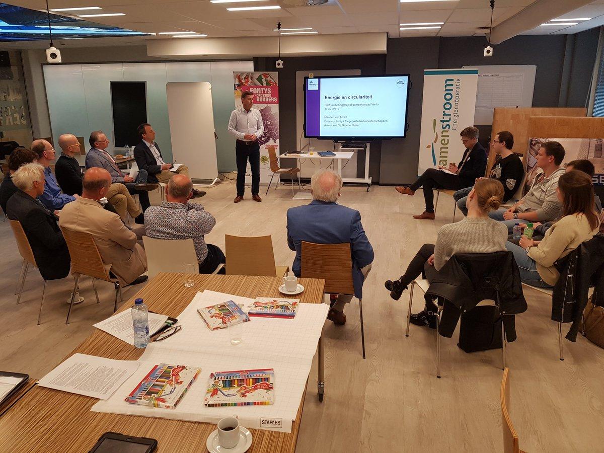 test Twitter Media - Tweede deel pilot verdiepingstraject energietransitie met studenten en leden @RaadVenlo. Keynote van Maarten van Andel, schrijver van De Groene Illusie, over #energie en #circulariteit @FontysVenlo. https://t.co/YMNbrQof4A