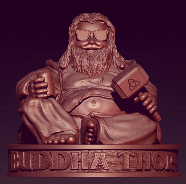 Buddha Thor??!? I want it lol #Thor