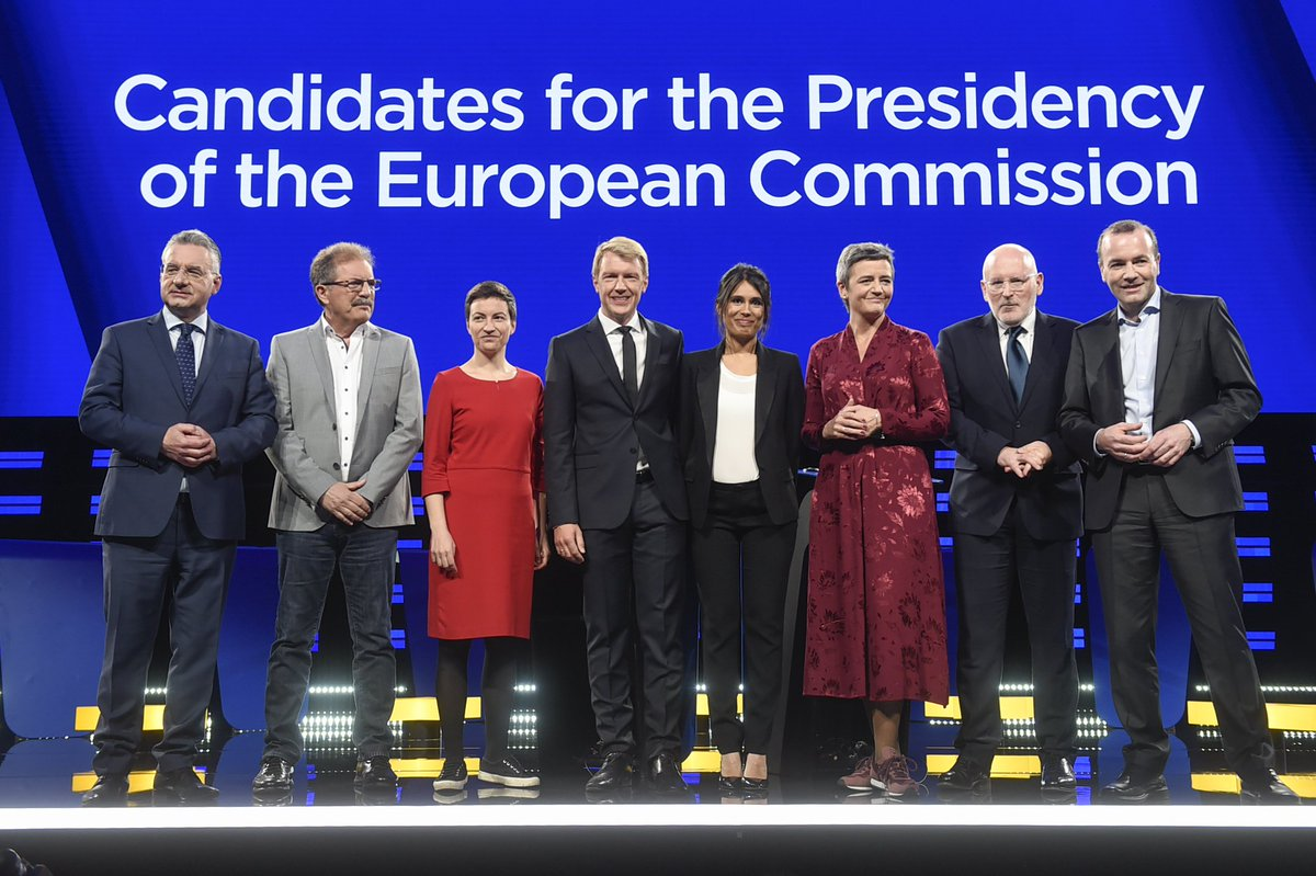 #TellEurope got more than 225M impressions on Twitter in addition to the TV viewers across Europe! Thank you for making the #EurovisionDebate such a success. And keep learning more about the candidates for the EU Commissions presidency #ThisTimeImVoting
