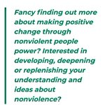 Image for the Tweet beginning: Inspiring Nonviolence!  ***New online course in