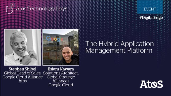 Join us live from Paris TODAY at the Atos Technology Days to listen to...