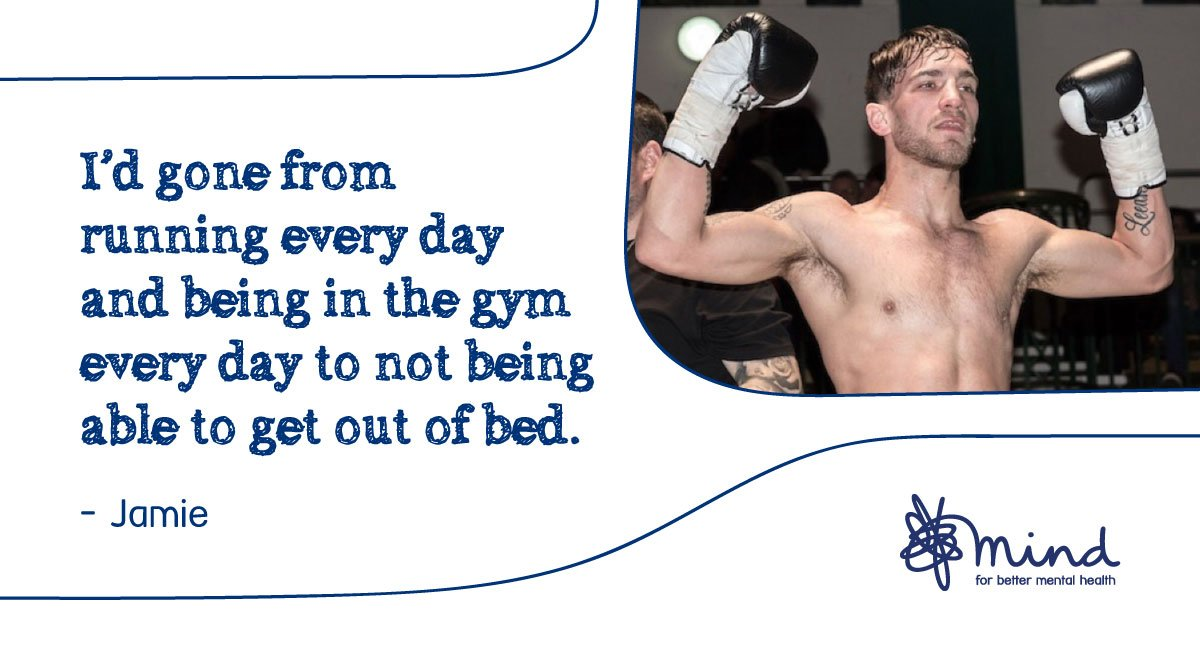 After a boxing injury left him unable to fight, Jamie developed depression. He tells us how opening up about his struggles was the first step to getting the help he needed. > https://bit.ly/2w6XHBD