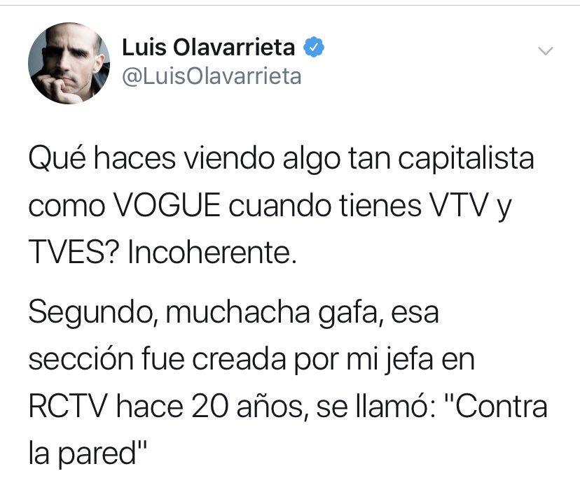 """Y después anda pidiendo respeto y haciéndose """"La Vistima"""" Arrecha la Olavarrieta !"""