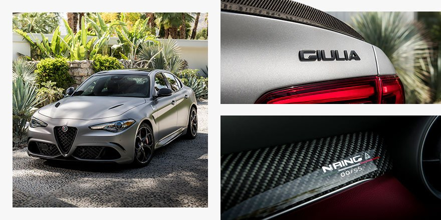 Sleek, serialized, and speed-driven, the limited production Giulia Quadrifoglio NRING is more of a race car in disguise.