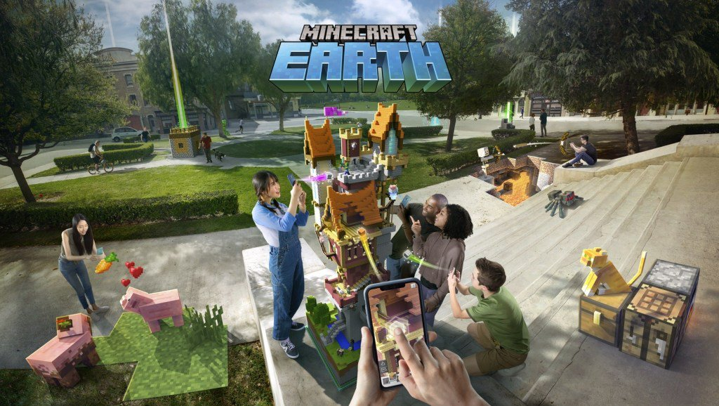 Minecraft Earth makes the whole real world your very own blocky realm tcrn.ch/2Vs41hu