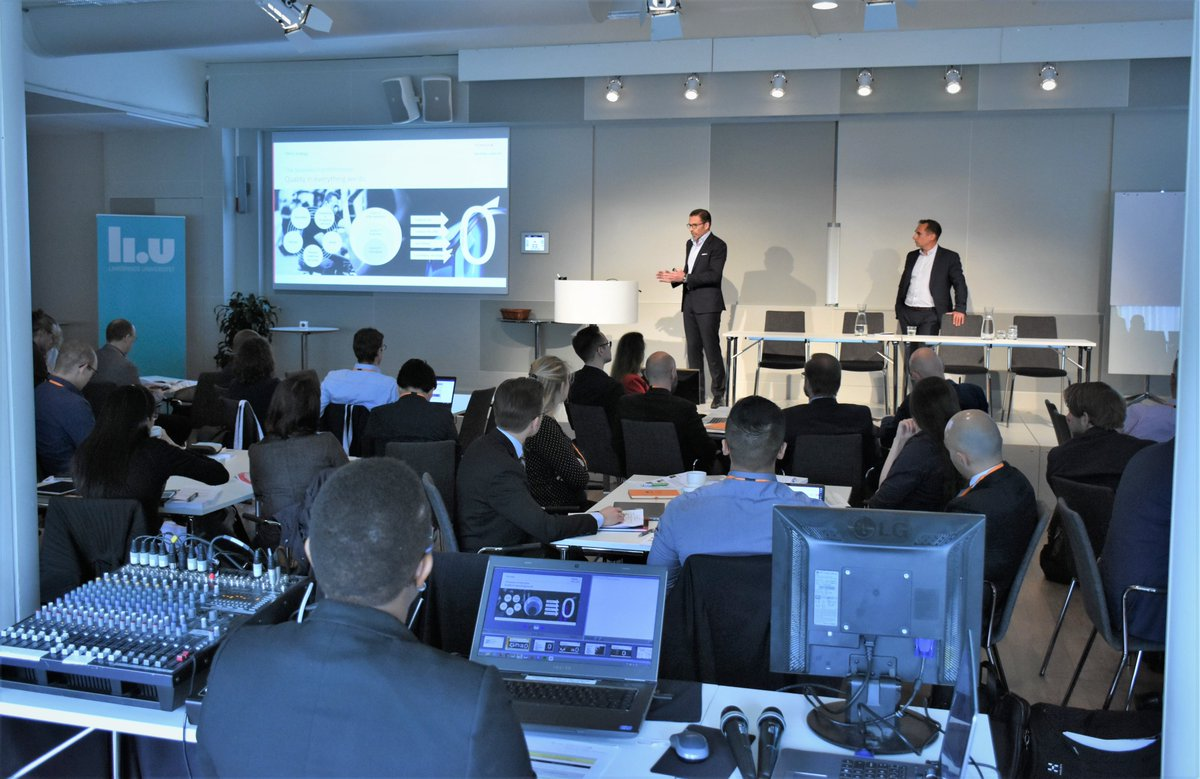 This week researchers gathered at LiU for the worlds leading conference on #servitization. Participating companies: @saab @ToyotaMH_EU @scania and @electrolux  Find news article and key notes from the conference here: https://liu.se/en/news-item/stora-utmaningar-nar-tjanster-forvandlar-industrin…