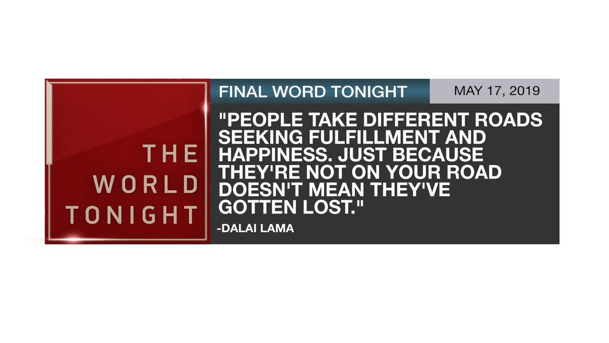 Final word tonight: