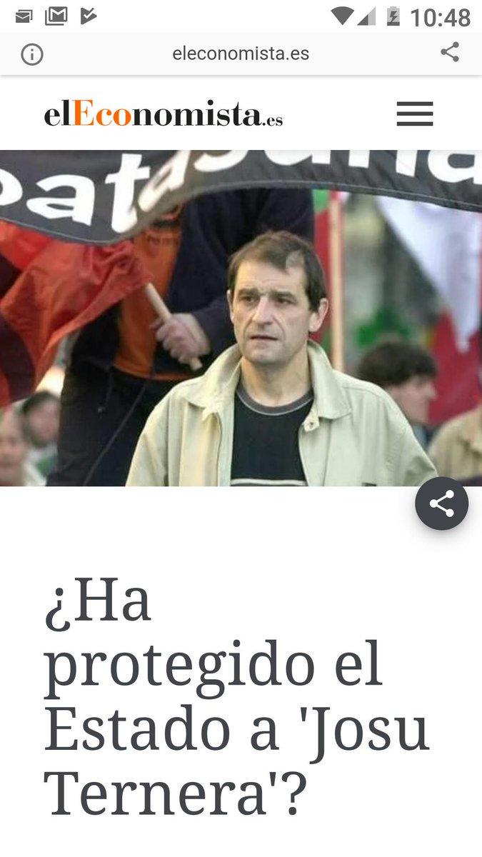 Resulta llamativo que Josu Ternera haya sido uno de los últimos dirigentes históricos de ETA en libre circulación y al cual han permitido campar a sus anchas siendo protegido por parte de las cloacas del CNI-CESID-SECED. Otro burdo montaje para la colección del régimen español.