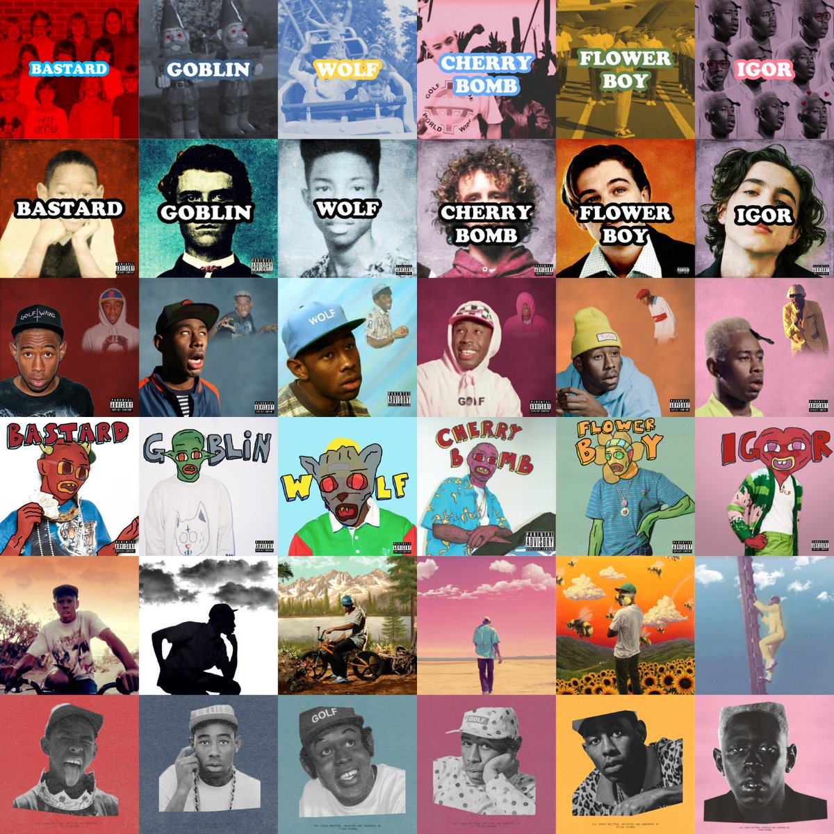 Rosie On Twitter Every Tyler The Creator Album Cover In The Style Of Every Other Tyler The Creator Album Cover Igor