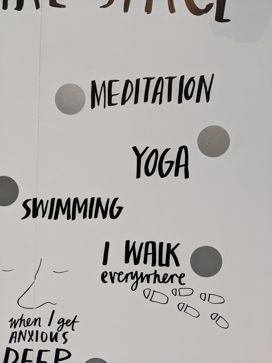 """Meditation... Yoga... Swimming... And I walk everywhere"" #MentalHealthAwarenessWeek"