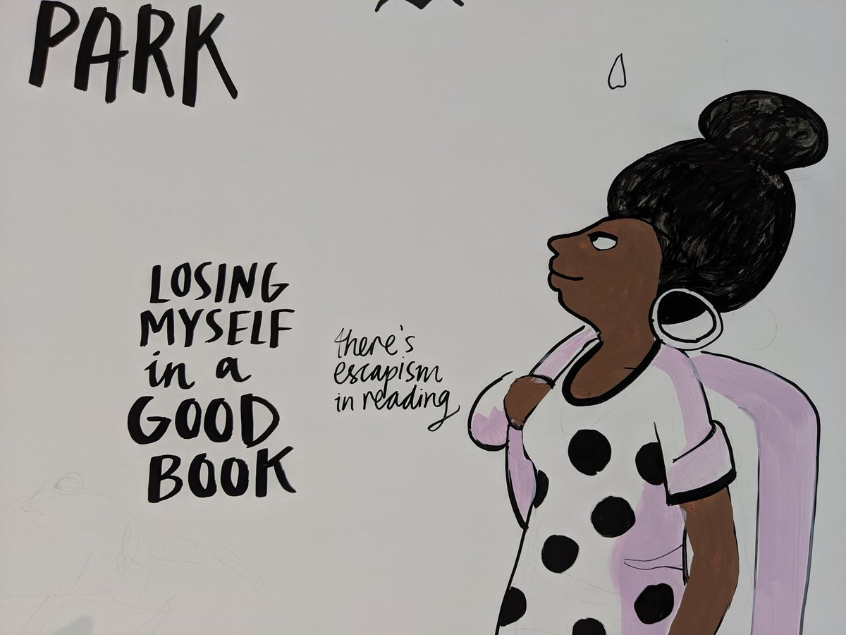 """""""Losing myself in a good book. There's escapism in reading."""" #MentalHealthAwarenessWeek"""